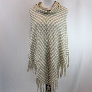 Dress Barn Cowl Neck Sweater Poncho L/XL